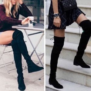Shoes - Sexy over the knee black boots with lace up back💄